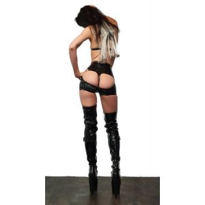 "Latex Highwaist Hotpants ""Bum Bum"""