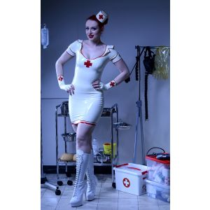 "Latex Krankenschwester ""Retro Nurse"" Top"