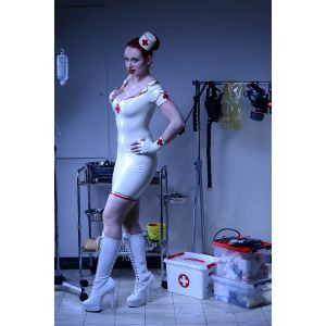 "Latex Stiftrock "" Nurse """