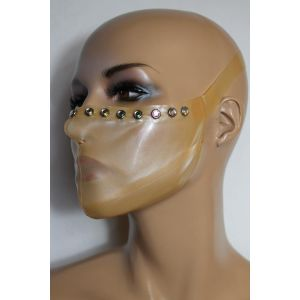 Latex Ultimate Medical Mask mit Strasssteinen