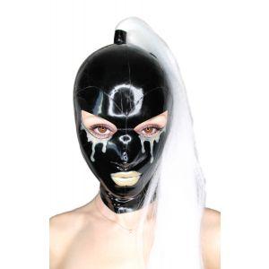 """Latex Damen Maske """"Angel Mist"""" mit oder ohne Zopf"""