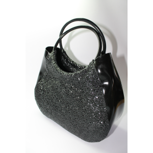 Diamant Strukturlatex Handtasche