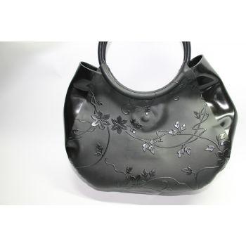 Flower Strukturlatex Handtasche
