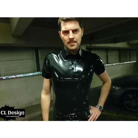 "Strukturlatex Herren Polo Shirt ""Triangle"""