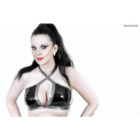 "Latex Neckholder Top ""Cynthia"""
