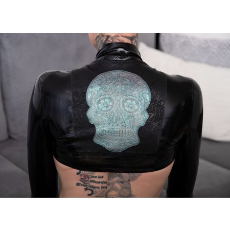 "Latex Damen Bolero Jäckchen ""Sugarskull"""