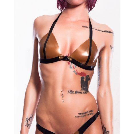 Latex Bikini Top mit Schleife