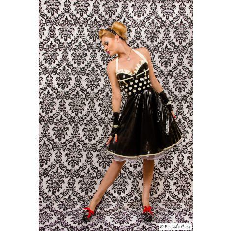 "Latex Corsagen Kleid ""Polka Dots"""