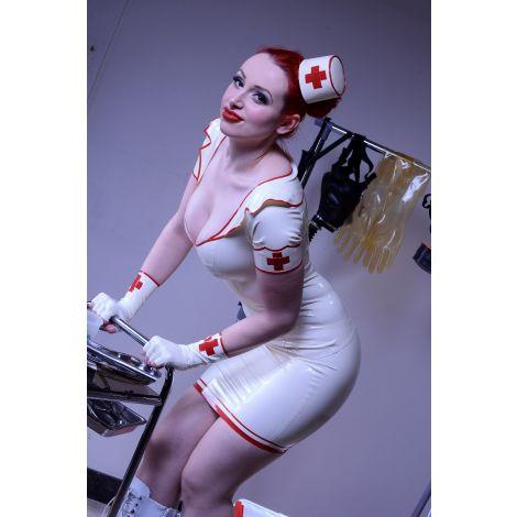 """Latex Pillbox Hütchen """" Nurse """""""