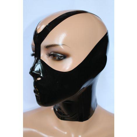 """Latex Damen & Herren Maske mit Zipper """"Bane"""""""