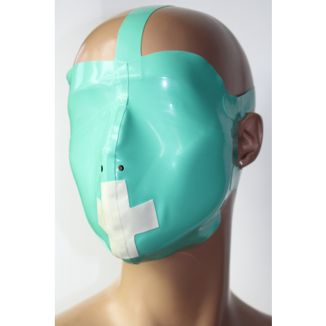 Latex Medical Play Mask mit Kreuz