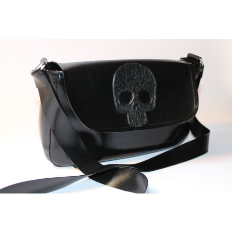 "Latex Messenger Mini Bag ""Skull"""