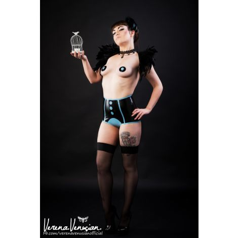Latex Mieder & Pasties Set